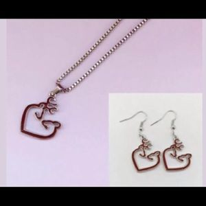 Browning red necklace set